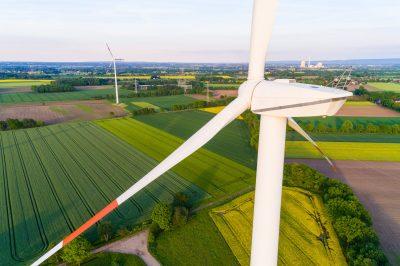 Windrad aus der Luft, Deutschland
